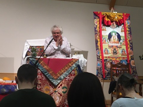 Picture of Lama Jampa Thaye teaching